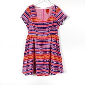 Modcloth Multicolour Striped Dress 1X